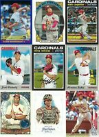 ST. LOUIS CARDINALS HUGE BASEBALL CARD LOT(860+) (3) AUTOGRAPHS
