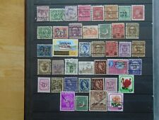 Worldwide. Overprinted Stamps. Private lot of 40 different. High Values.
