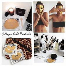 Gold Premium collagen Bio Crystal Face Mask Anti Ageing Firming Lifting Mask UK