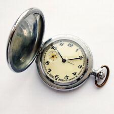 Molnija Cone pattern (Molniya) Soviet pocket watch. Mechanical 3602 SU 1980s