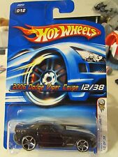 Hot Wheels 2006 Dodge Viper Coupe #012 2006 First Editions Black