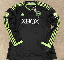 ADIDAS SEATTLE SOUNDERS FC JERSEY - MLS Pitch Black Authentic Adizero XL