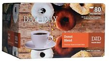 Day2Day Donut Blend Single Keurig K Cup Brewers, Box of 80 K Cups