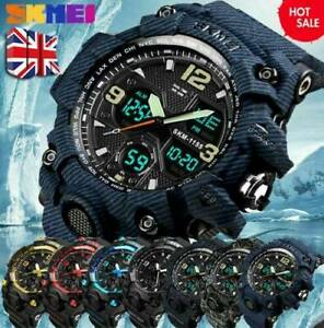 SKMEI Army Military Sport Men's LED Quartz Analog Digital Wrist Watch Water Hot