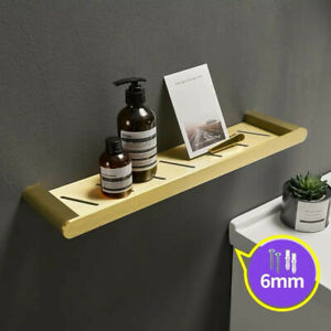 Organizer Brushed Gold Aluminum Bathroom Shelves Wall Shower Storage For Shampoo