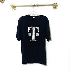 Tmobile Black Tee Short Sleeve Shirt Crew Neck Medium Uniform
