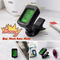 Chromatic LCD Digital Clip On Electric Tuner F Bass Guitar Ukulele Violin BEST