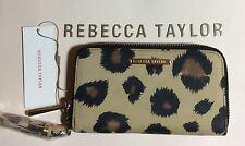 NWT $195 Rebecca Taylor Leopard Zip-Around Wallet Clutch