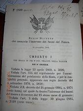 REGIO DECRETO 1884 CHE AUMENTA L'INTERESSE DEI BUONI DEL TESORO