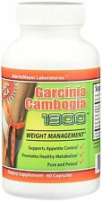 100% PURE 60 Capsules 1300mg Daily GARCINIA CAMBOGIA 60% HCA Weight Loss Diet