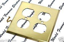 1pcs-COOPER 94102 Brass Duplex Receptacle Standard Size Wallplate 2-Gang