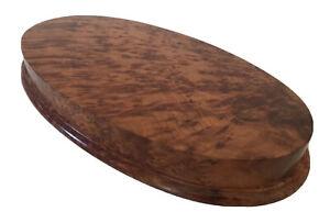 Solid Thuya Burr Wood Display Stand Large Wood Mount Plinth 38 x 20 x 4 cm