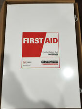 NEW GRAINGER 150 person First Aid Kit Medical Supply Box Station