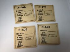 Lot of 4 Robur New Old Stock Watch Crystals No 508 - 210 x 140