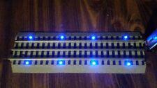 "NEW Blue LED Lighted 10"" Bridge Track. Lionel FasTrack Straight (Fast Track)"
