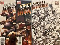 SECRET INVASION #1 2 7 VARIANT 1/20 SET Yu Sketch McNiven Marvel Comics Disney+