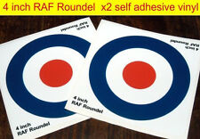 2x 4inch RAF Roundel stickers The Who Mod Target Scooter Decals Vespa car decals
