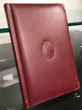 MUST DE CARTIER PHONEBOOK NOTEBOOK BURGUNDY LEATHER Unused