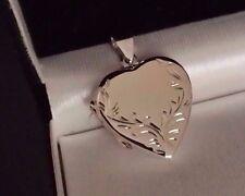 Real Para Damas De Plata Esterlina 925 Corazón Amor Medallón Foto Grande Urna Colgante Regalo