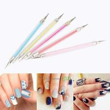 5pcs Nail Art Design Set Dotting Painting Drawing Polish Brush 2Way Pen Tools
