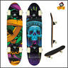 Skateboard Xtreme Blue Skul Skater Board Deck Beginners Fun Cruiser Skating 61cm