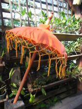 Balinese Hand Crafted Umbrella (orange tones) second
