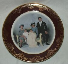 Decorative plate Royal Family Group by WEATHERBY ROYAL FALCON, dark red