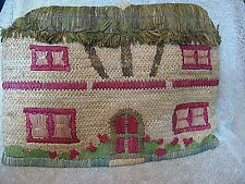 Vintage Tea Cosy Woven Thatched Cottage  Quilted Lined Retro (14  by 10 inches )