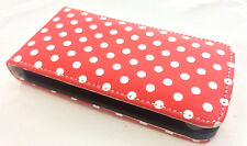 Mobile Phone Case iPhone  4 4S - Red Polka