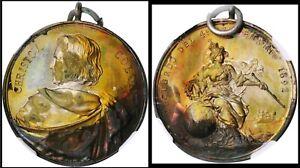 MED022 1892 World's Columbian Exposition Christov. Colon Medallion. Eglit-224