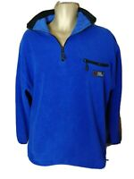 FJALLRAVEN SOFT FLEECE OVERSIZE MENS BLUE JUMPER SIZE MEDIUM M DI