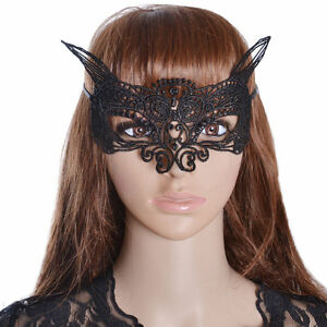 New Sexy Cat Lace Flower Hollow Women Masquerade Ball Face Eye Mask Party Gift
