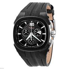 Breil Milano Mens BW0414 Eros Chronograph Black Leather Stainless Steel  Watch
