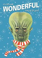 ALIEN MONSTER MASK Holiday Christmas GREETING CARD Distortions Unltd. ANDROMEDA