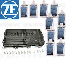 OEM ZF Transmission Pan Filter+10 Liters Lifeguard 8 Fluid: Jaguar + Range Rover