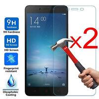 2PCS 9H Real Tempered Glass Guard Screen Protectors Film For Xiaomi Redmi Note 4