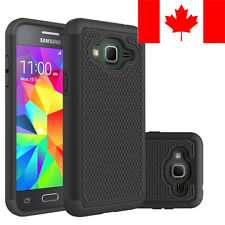 HARD/SOFT RUBBER SHOCKPROOF CASE COVER SHIELD FOR SAMSUNG GALAXY J3 2016 (BLACK)