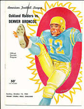 1962 10/14 Oakland Raiders vs Denver Broncos Football Program 7000 attendance! R