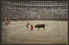 Spain. Bull Fight.  La Corrida de Toros - Suerte de Capa - Early Colour Postcard
