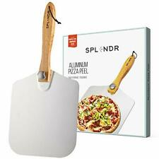 Aluminum Metal Pizza Peel with Foldable Wood Handle 12 Inch x 14 Inch Great