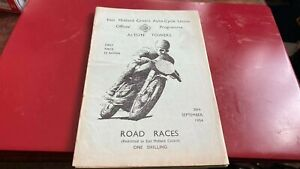 ALTON TOWERS---ROAD RACES---PROGRAMME--26TH SEPTEMBER 1954