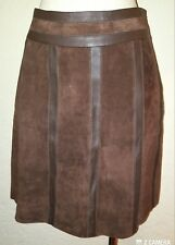 J Mclaughlin Brown Suede & Leather Mini Skirt Size 4