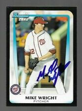 2011 Bowman MIKE WRIGHT Signed Card autograph ORIOLES MARINERS