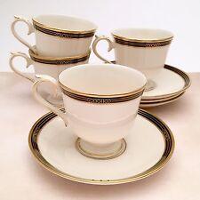 Set Of 4 Lenox Ambassador Collection, Langdon Gate Cups and Saucers