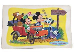 Vtg Lot 5 Walt Disney 1961 Placemats Ludwig Von Drake Mickey Minnie Mouse Pluto