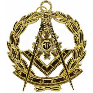 Masonic Past Master Jewel Pendant Medallion Officer Fraternal Regalia Gold
