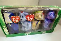 TY Jingle Beanies Collection unopened box Clubby I II III IV Edition bear set
