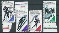 DDR  MiNr 3140/3, Olympische Winterspiele in Calgary, postfr.,  1988