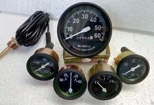 Willys MB Jeep Ford GPW CJ - Speedometer Temp Oil Fuel  Amp Gauges Kit- A4