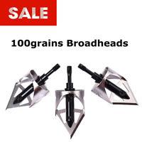 100grains Broadheads Steel Circular Arc Blades Arrowhead Archery Target Hunting